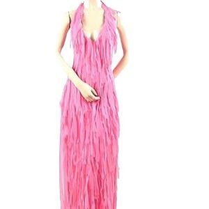 BCBG Max Azria Silk Chiffon Mummy Runway Dress